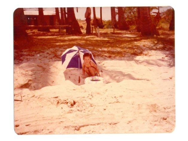 Teresa at the beach