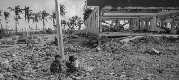 boys in rubble